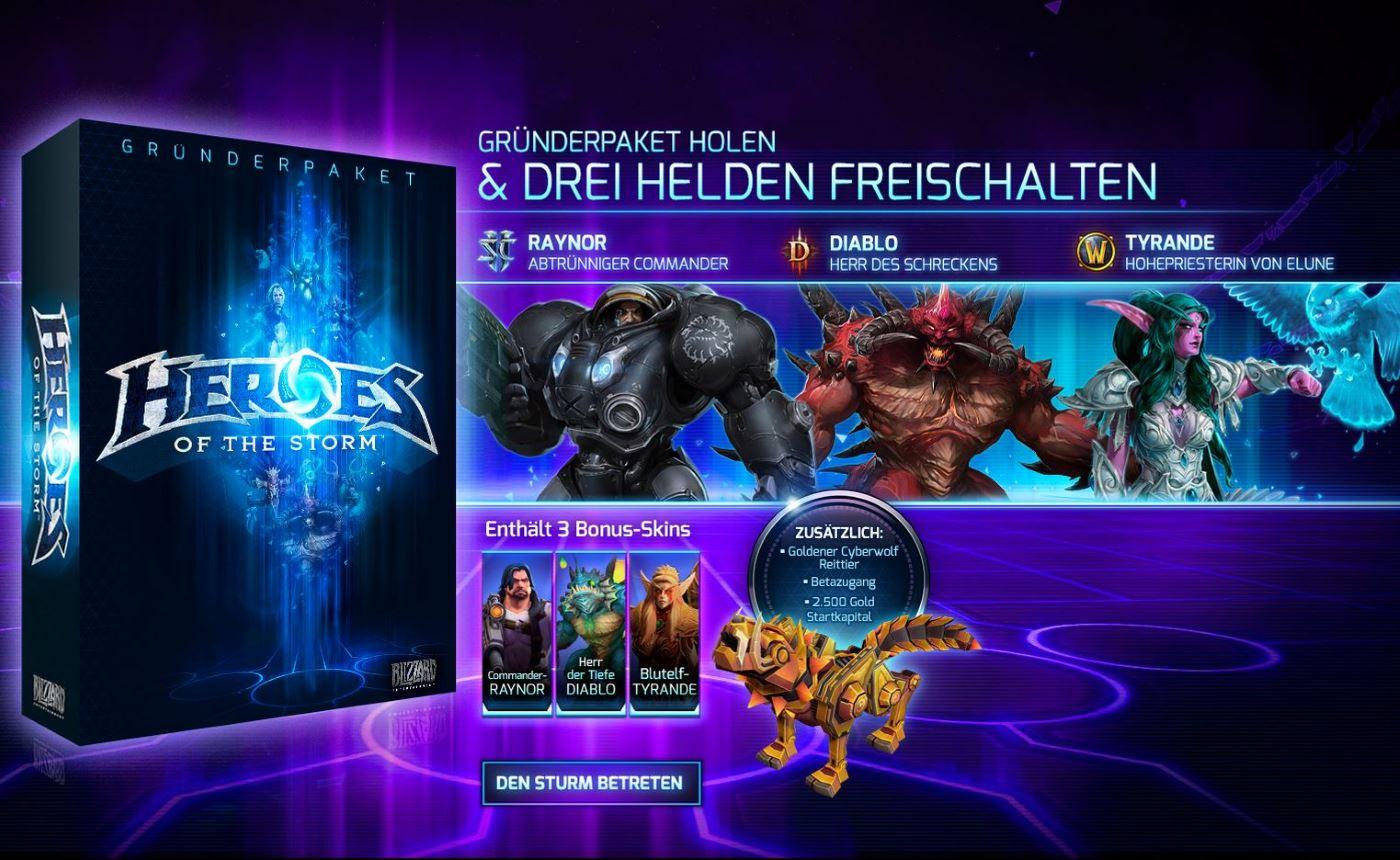 Heroes of the Storm: Gründerpaket bietet Beta-Zugang und ein paar Extras