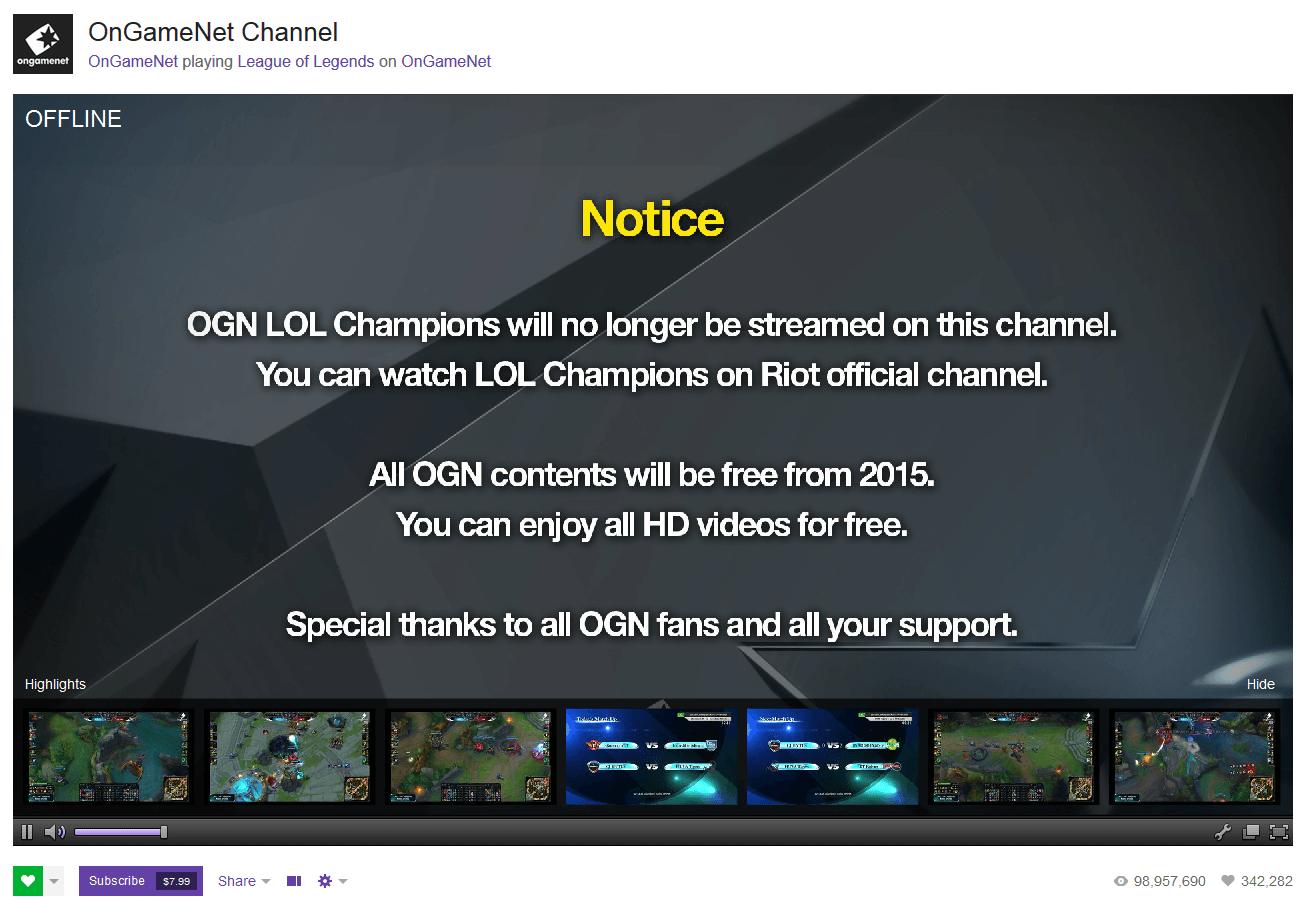League of Legends: Koreanische Elite-Liga OGN nun frei in HD zu sehen