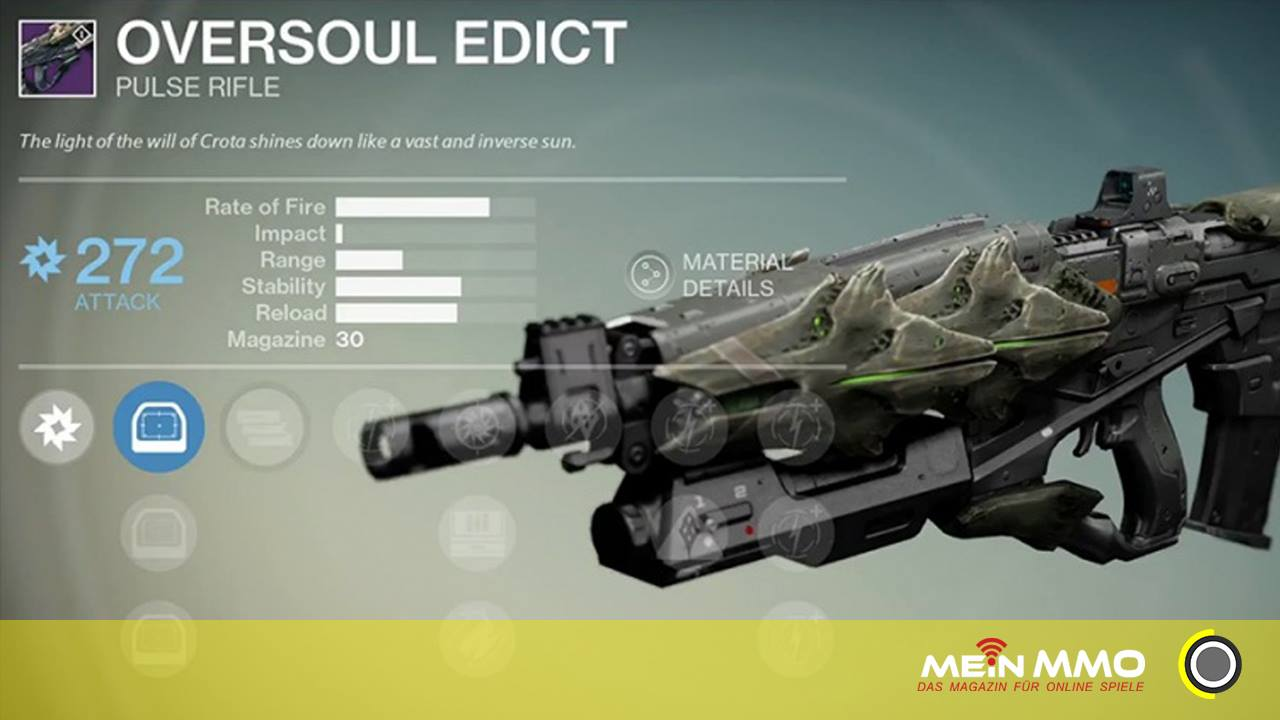 Destiny: Vollautomatisches Impulsgewehr Erlass der Überseele – der Ritter-Töter