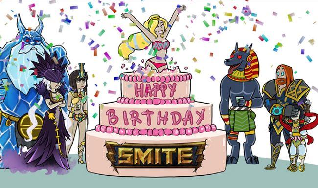SMITE feiert Geburtstag und gibt eine Runde Götter aus