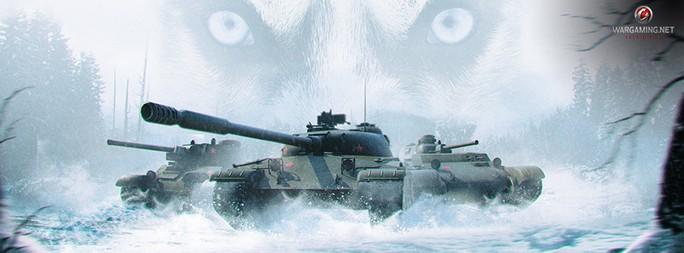 Bei World of Tanks (XBox 360) jagt ein sibirisches Wolfsrudel