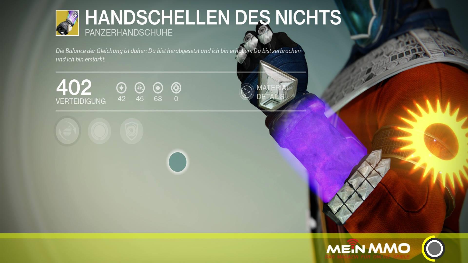"""Destiny: Die neuen exotischen Warlock-Handschuhe """"Handschellen des Nichts"""""""
