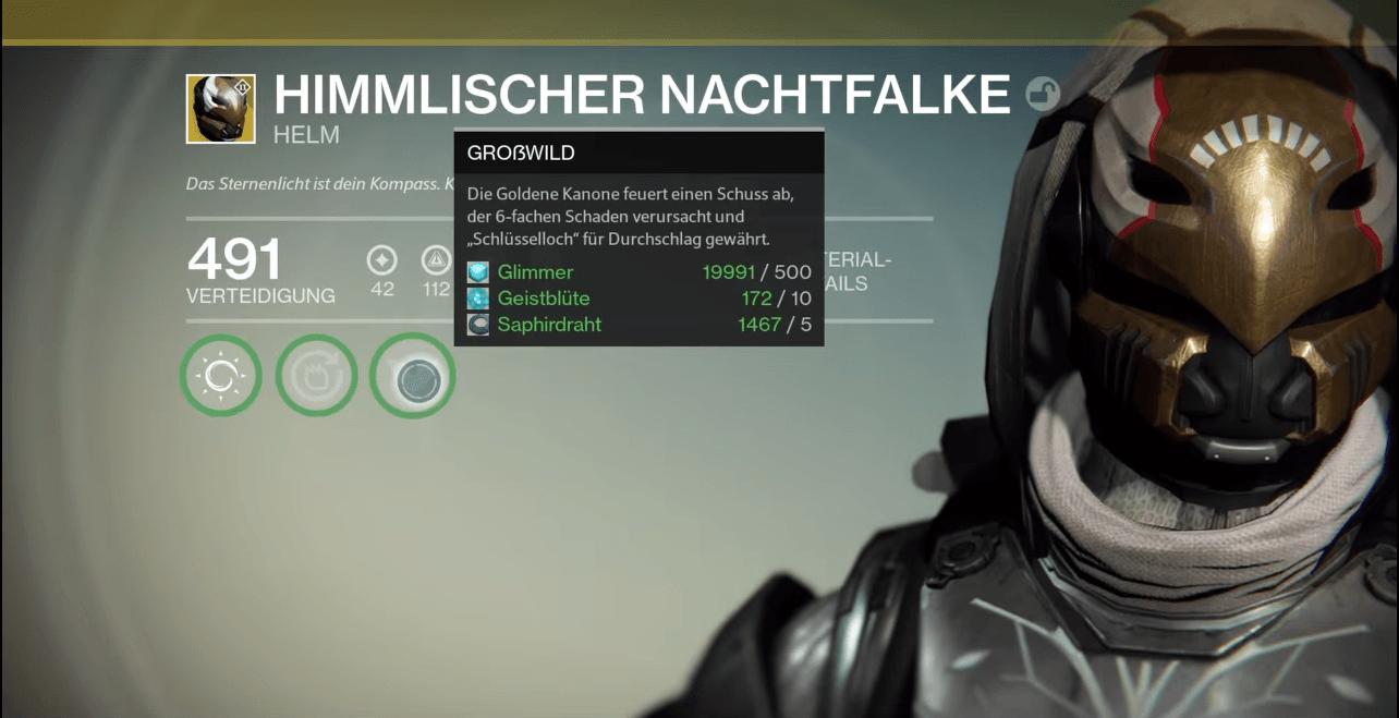 """Destiny: Jäger werden dank neuem Helm """"Himmlischer Nachtfalke"""" zu Großwildjägern"""
