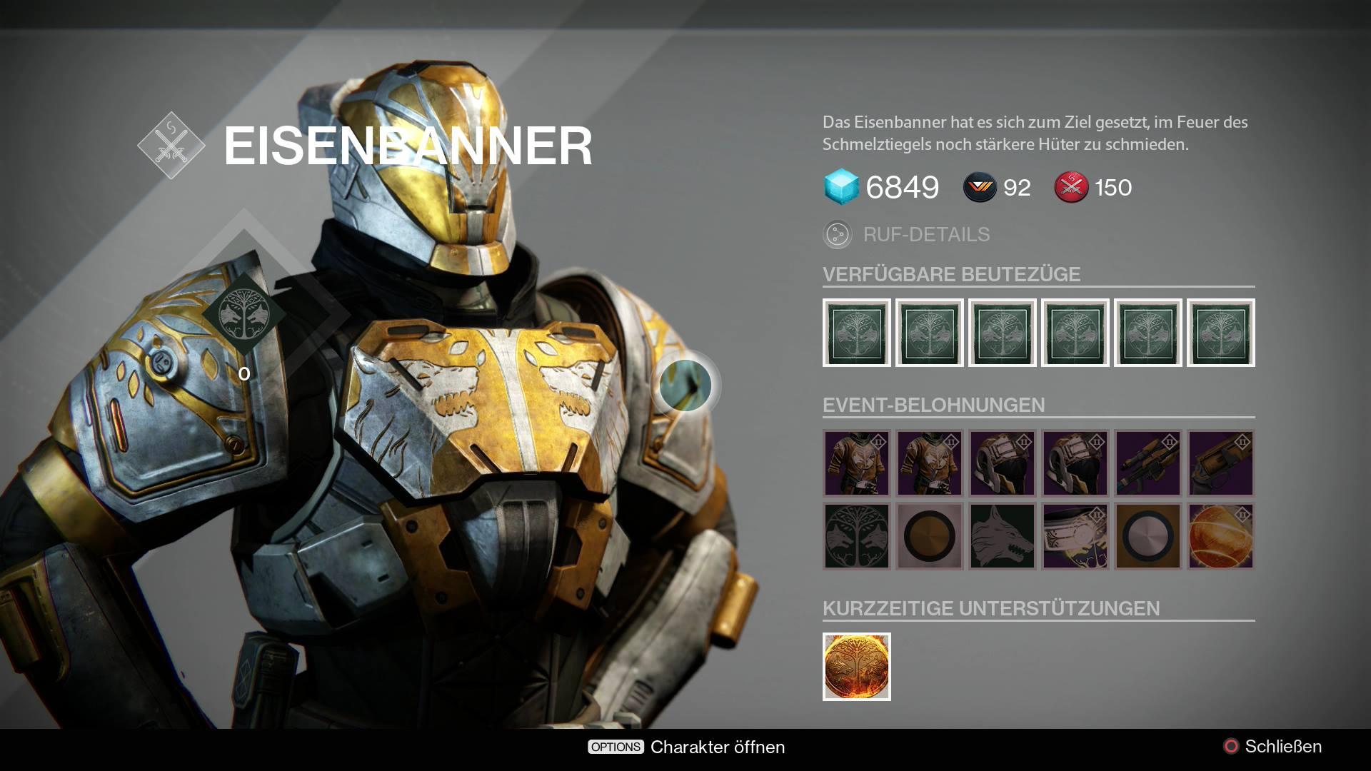 Destiny: Das Eisenbanner im August – Was gibt's und wie kommt man ran?