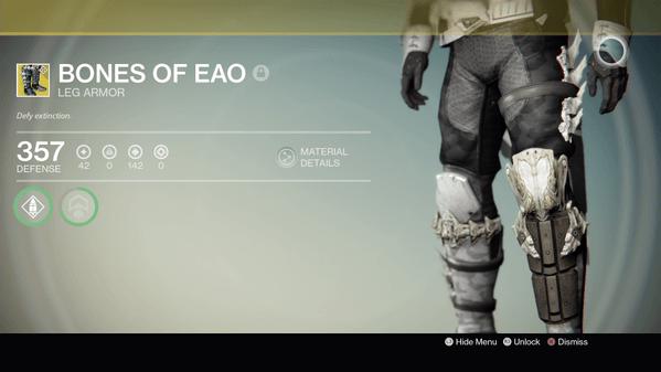 Destiny: Jägerbeine Knochen von Eao sind was für Springmäuse