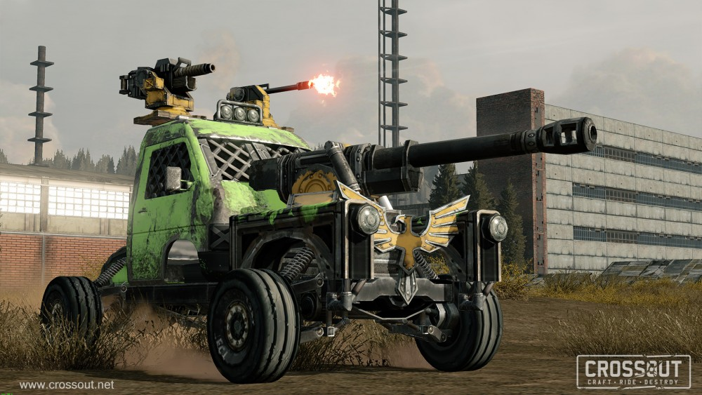 Neues Free2Play Military-MMO Crossout setzt auf Kettensägen und Rallystreifen