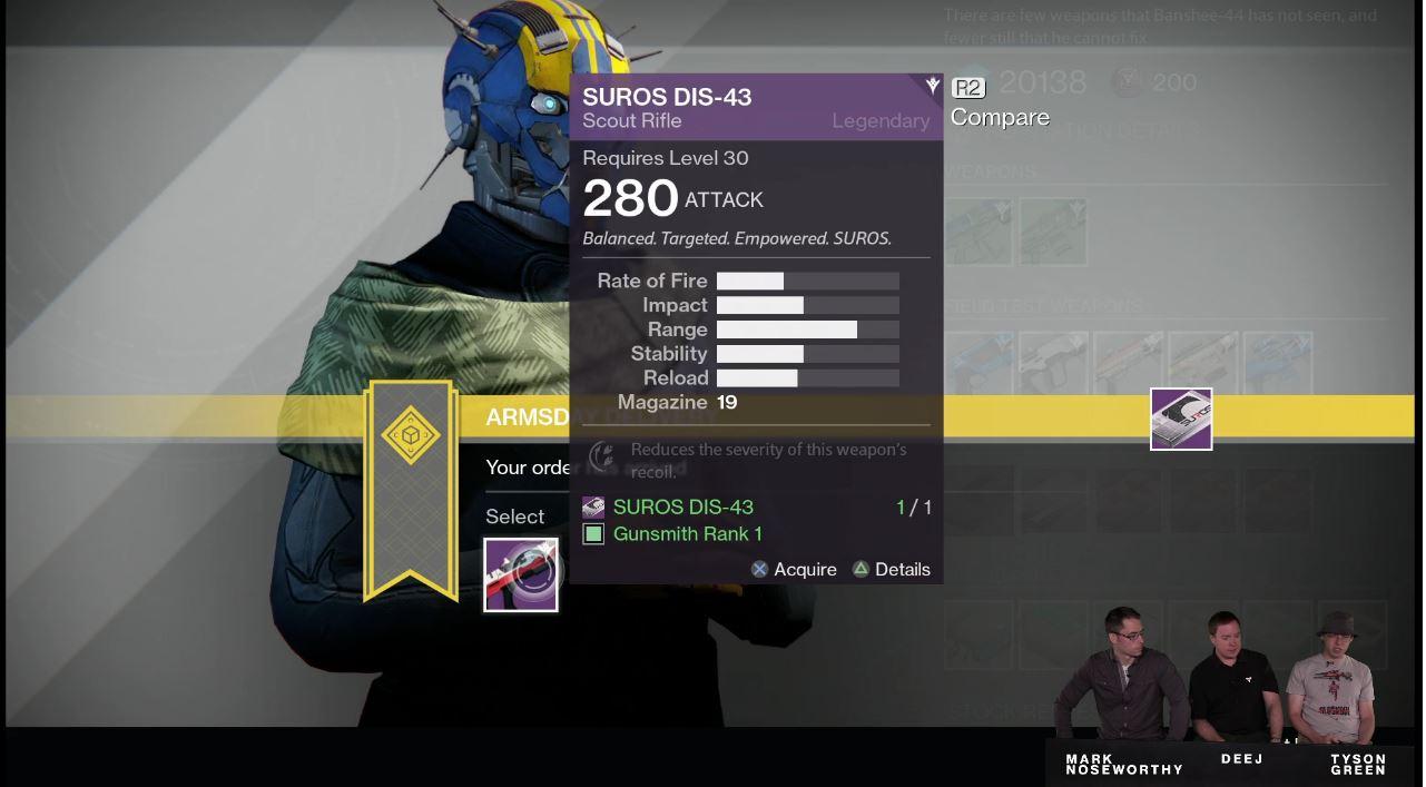 Destiny: Waffentests bei Banshee-44 beginnen genau jetzt