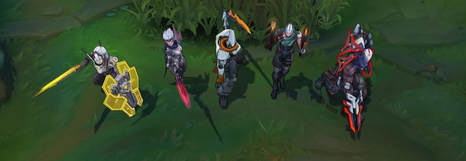 League of Legends: Hier sind die 5 Project-Skins und sie haben was von Power-Rangers