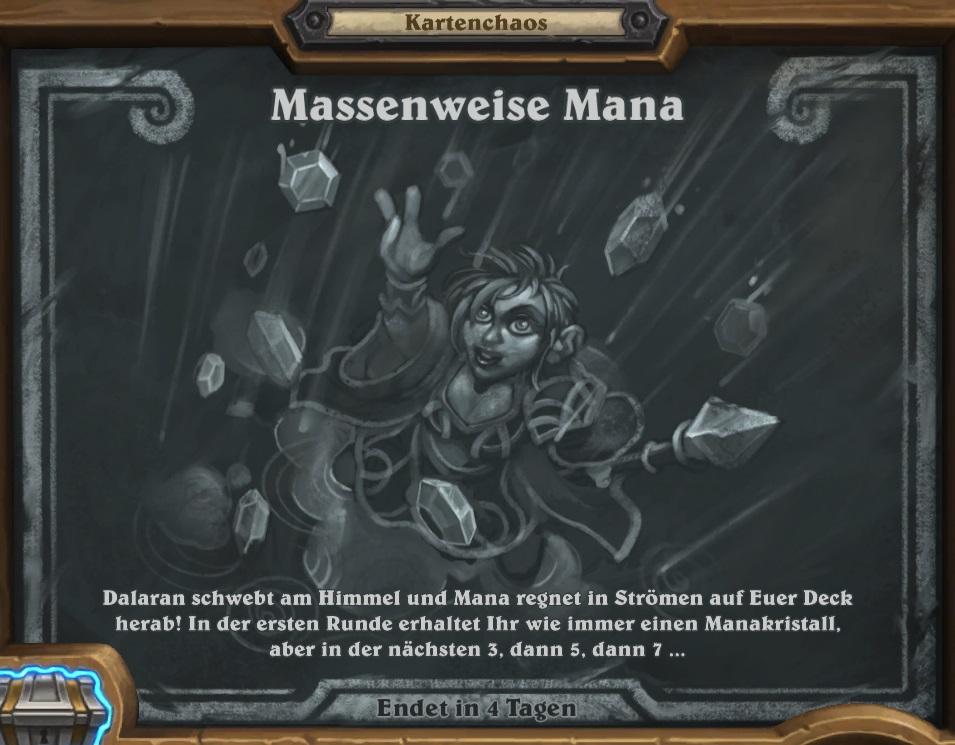 Hearthstone: Kartenchaos gibt Euch einen Manabuff!