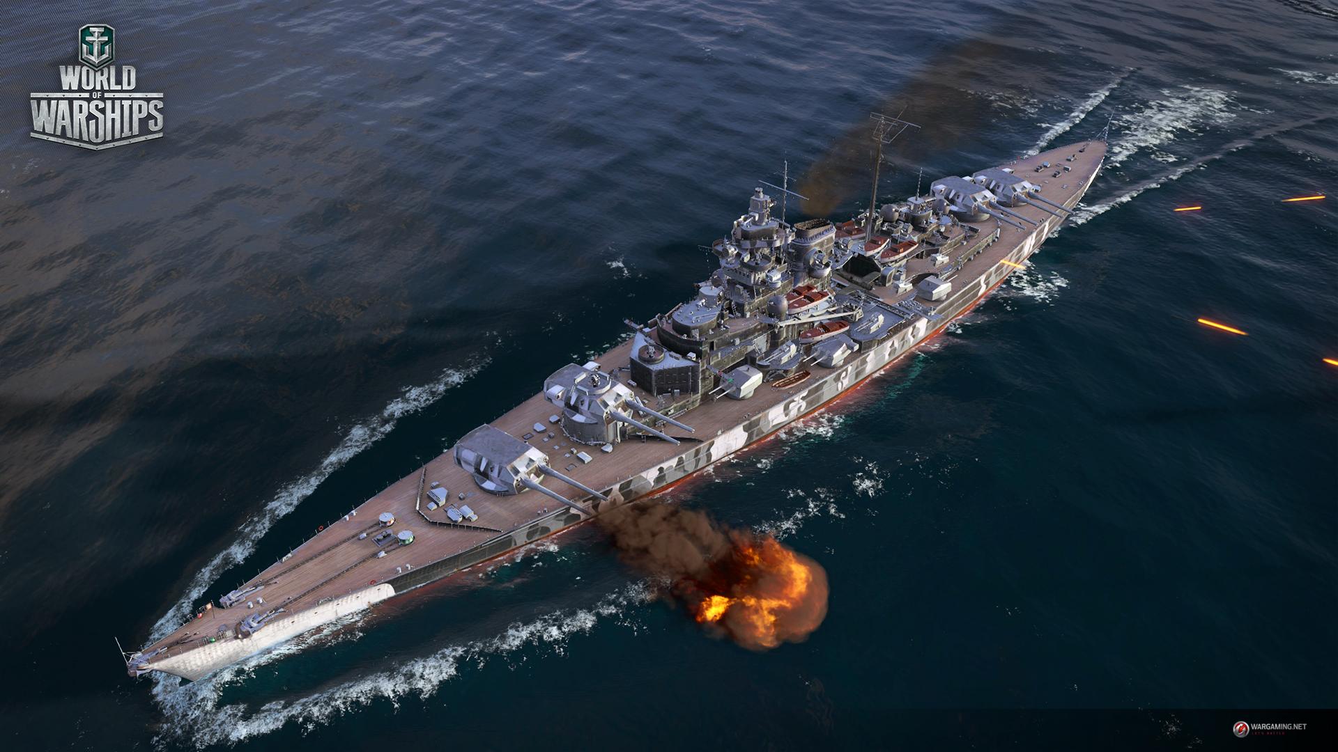 World of Warships will 60 Euro für deutsches Schlachtschiff Tirpitz
