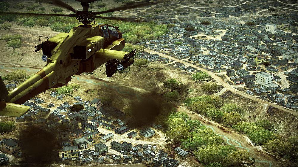 Ein russischer Luftangriff in Syrien? Nein, das ist nur das Spiel Apache: Air Assault der War-Thunder-Entwickler!
