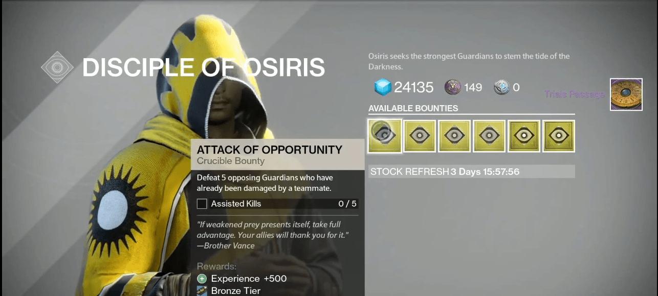 Destiny: Prüfungen von Osiris sind live