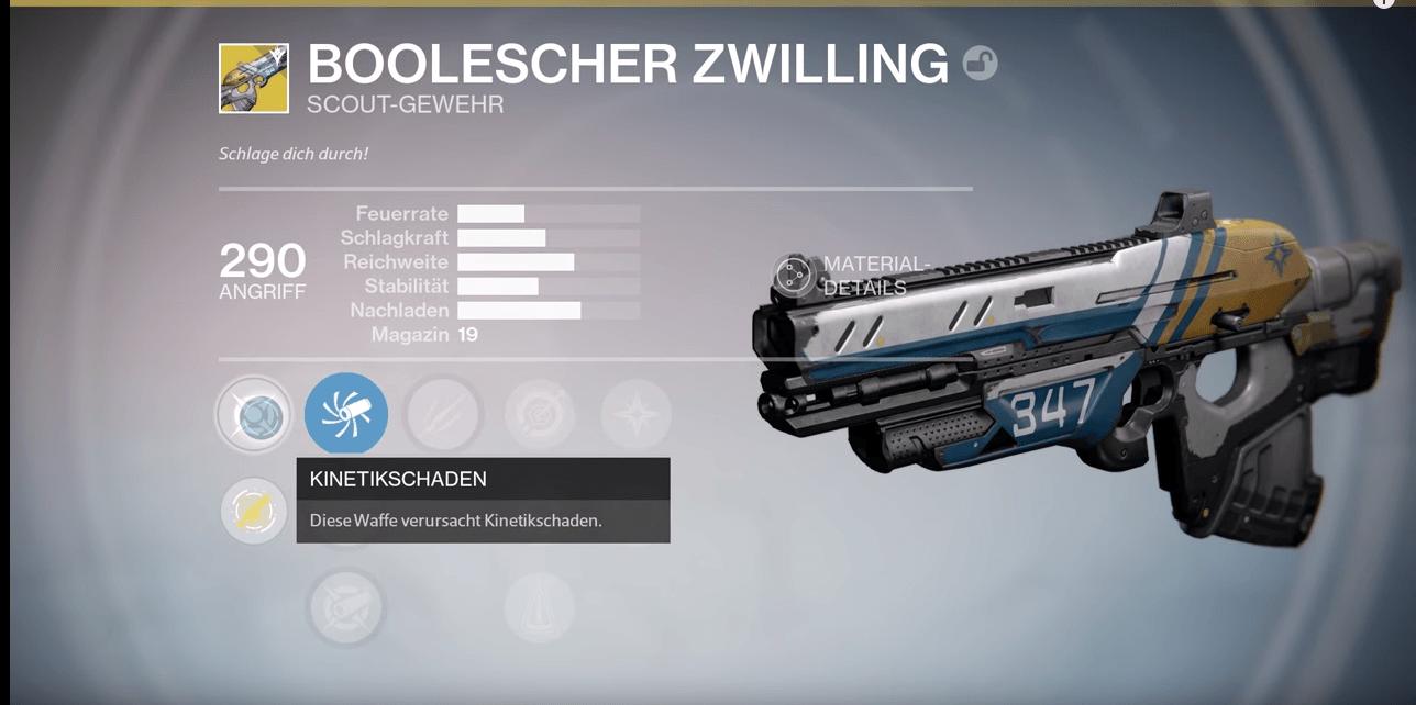 Destiny Guide: Boolescher Zwilling, so bekommt Ihr das exotische Scoutgewehr