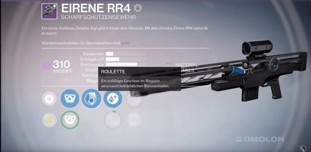 Destiny: Eirene RR4 – die letzte One-Shot und damit beste PvP-Sniper?