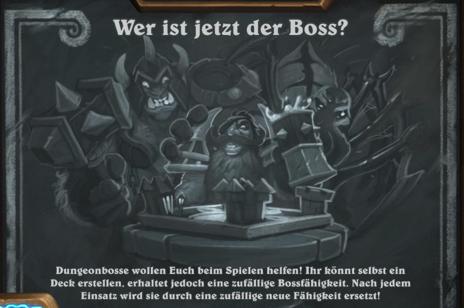 Hearthstone: Kartenchaos – Zeit für Boss-Action!
