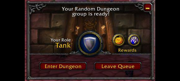 World of Warcraft Dungeon Finder Tank