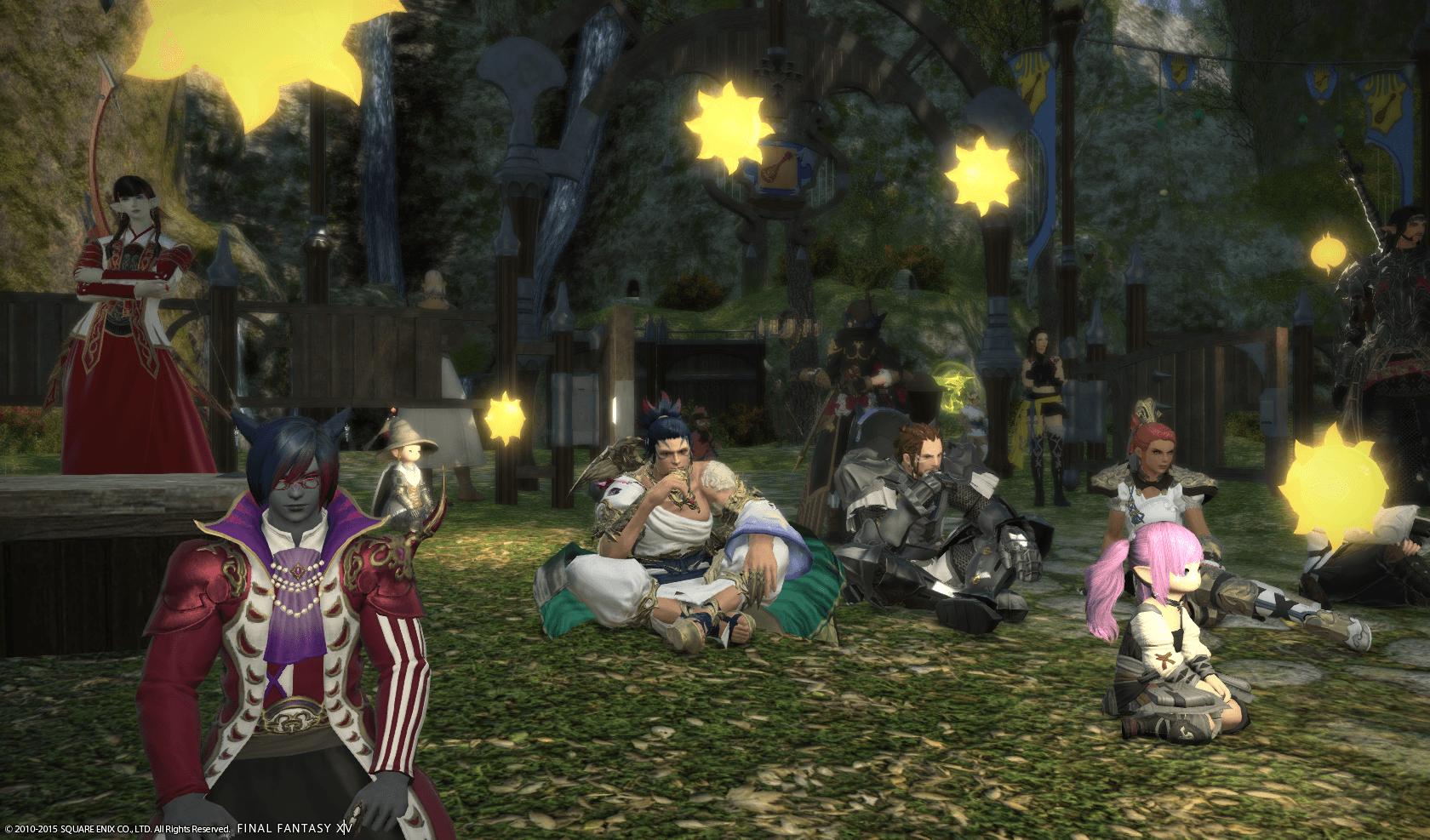 Spieler in WoW und Final Fantasy XIV treffen sich spontan und still, um an Paris zu denken
