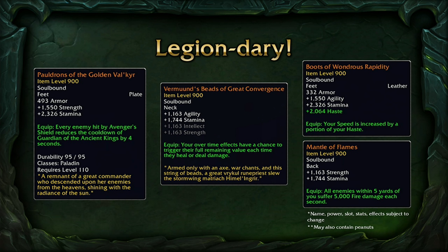 """WoW: Legion – """"Wir hätten fast einen Schutz gegen zu viel Glück eingebaut"""""""