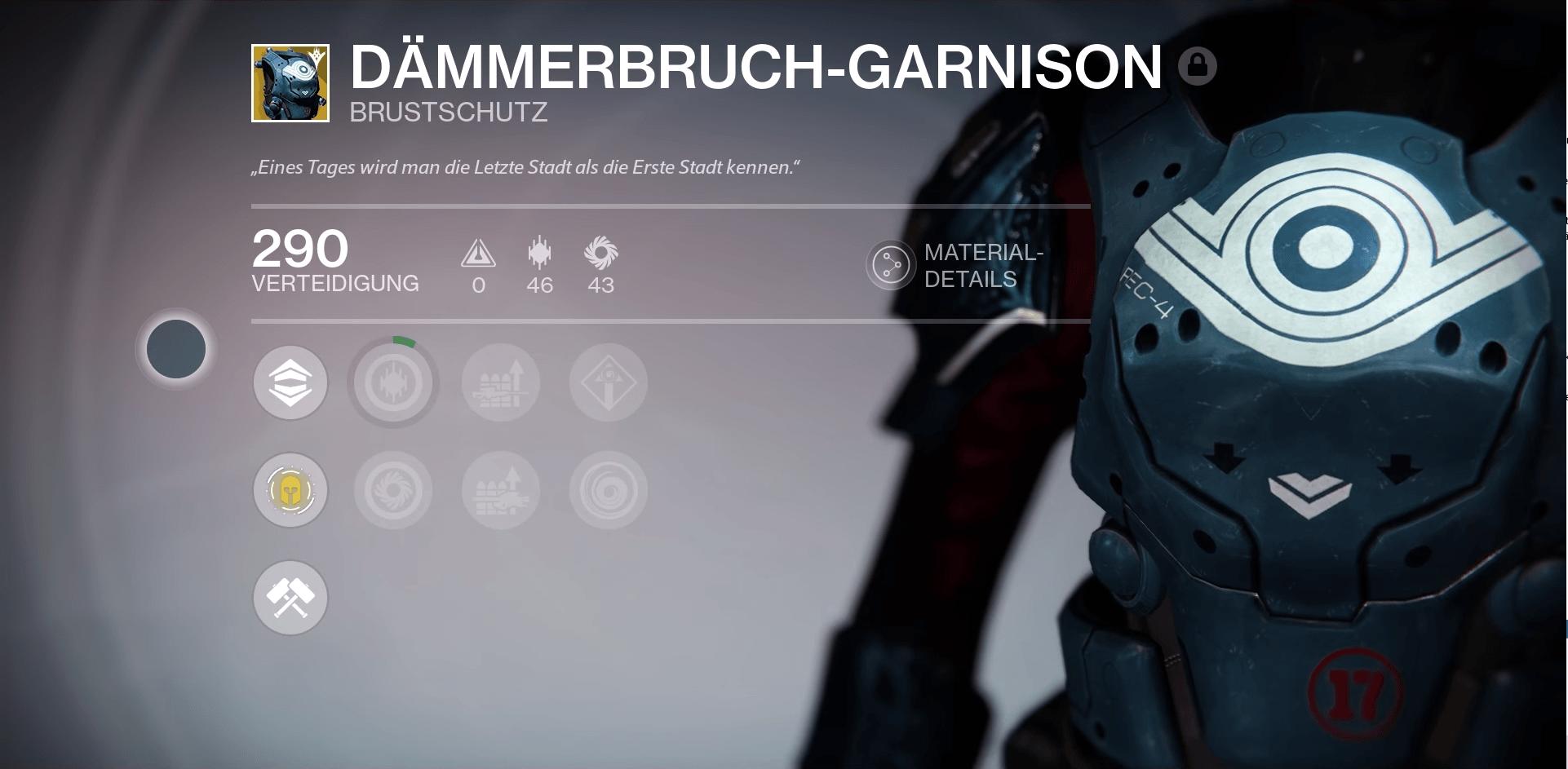 Destiny: Dämmerbruch-Garnison – Was kann die Brustrüstung für Titanen?