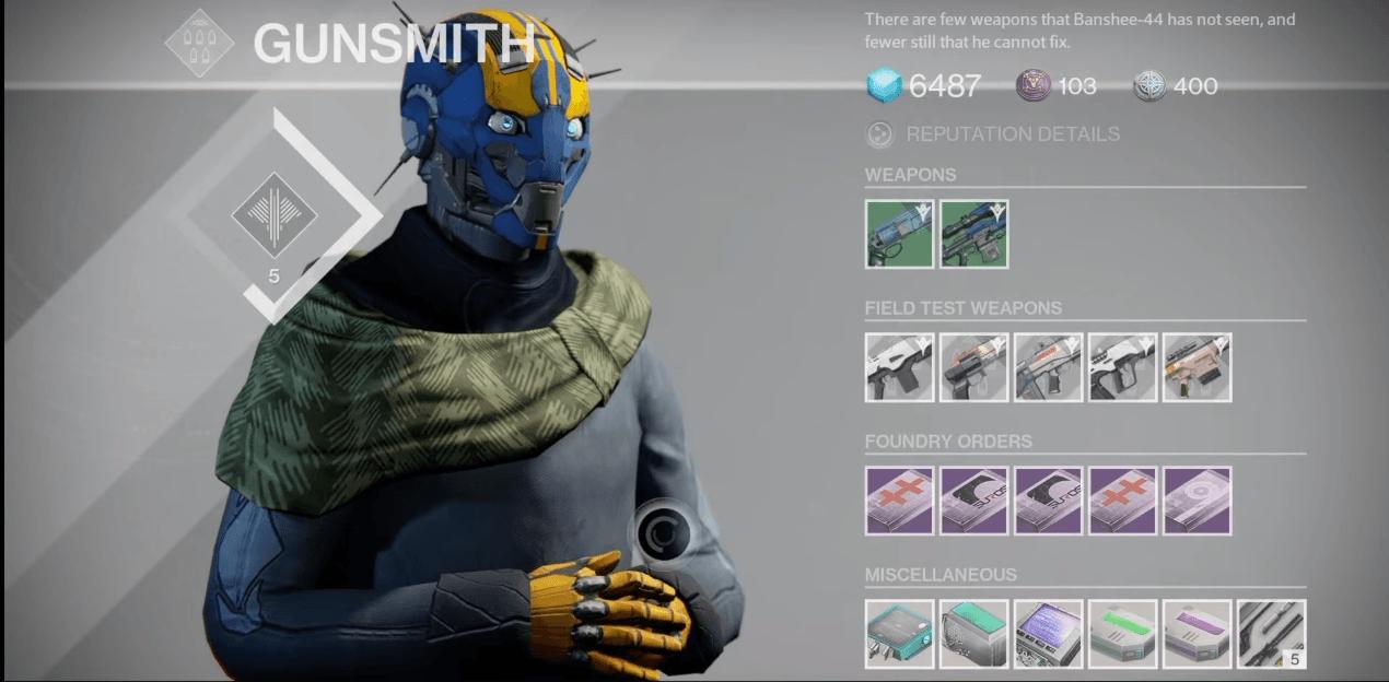 Destiny: Banshee-44 am 9.12. – Testwaffen, neue Aufträge, die besten Rolls