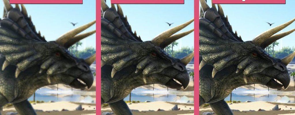 ARK: Survival Evolved im PC-Grafikvergleich – Dinos in schön und hässlich