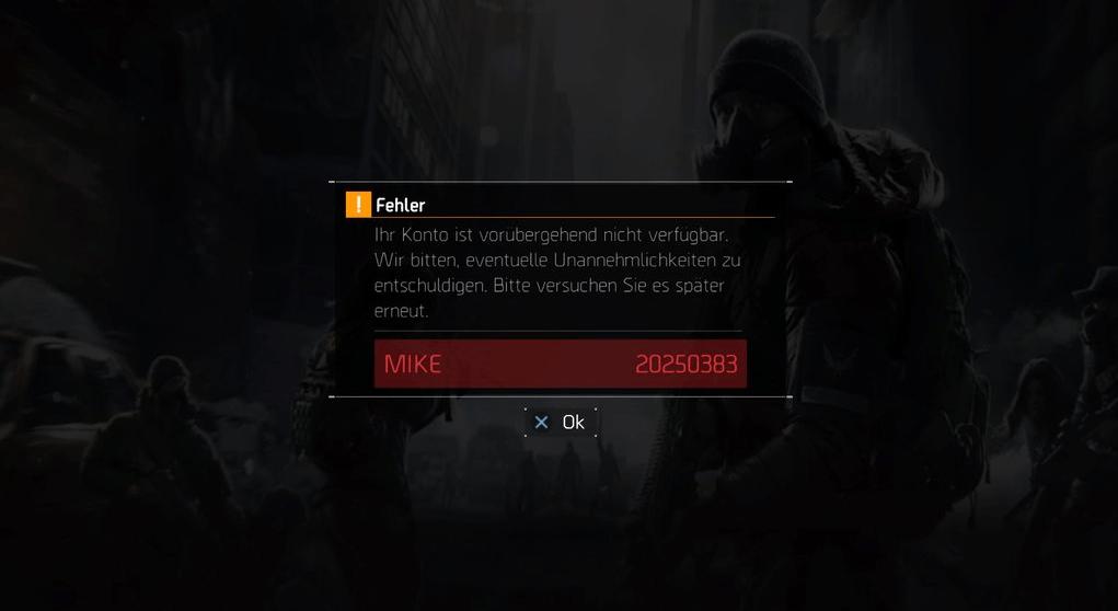 The Division: Fehler Mike – Server haben Probleme [Update: Wartungsarbeiten am Samstag]