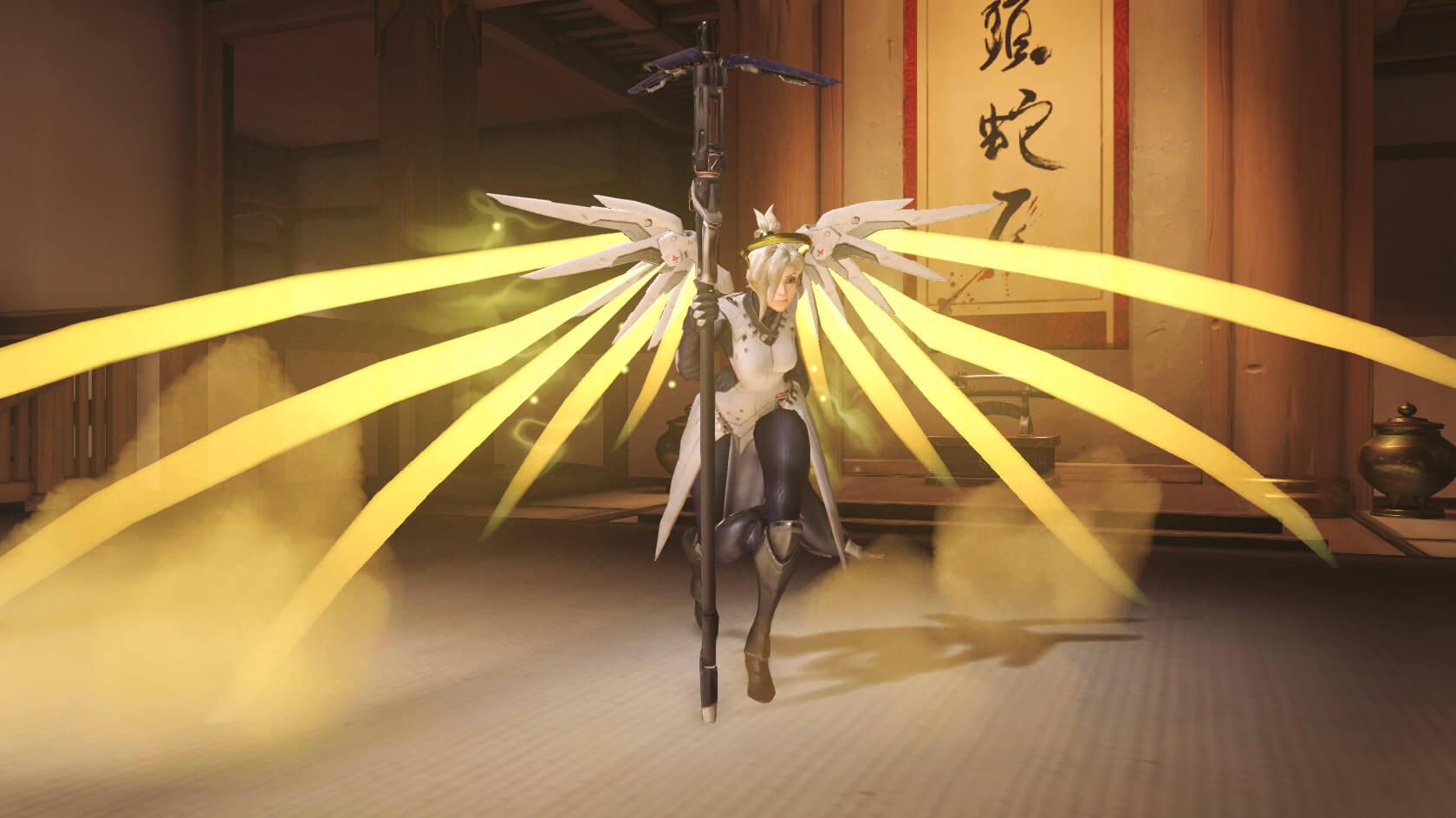 Overwatch: Mercy mit den Riesenflügeln – ein verdammt stylischer Glitch