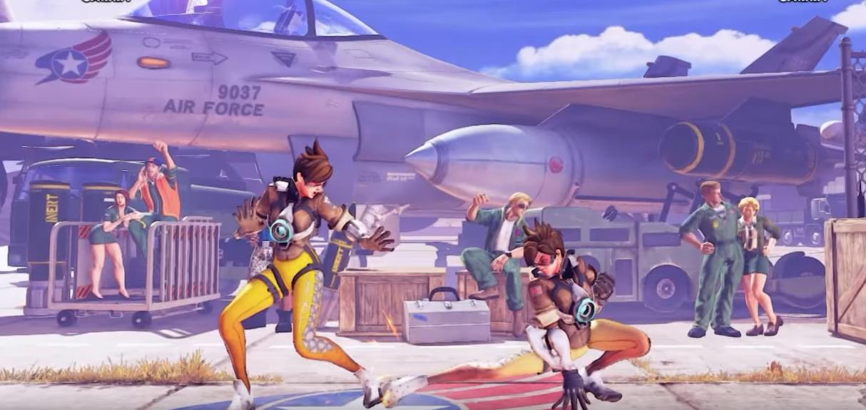 Overwatch: Tracer prügelt sich in Street Fighter V