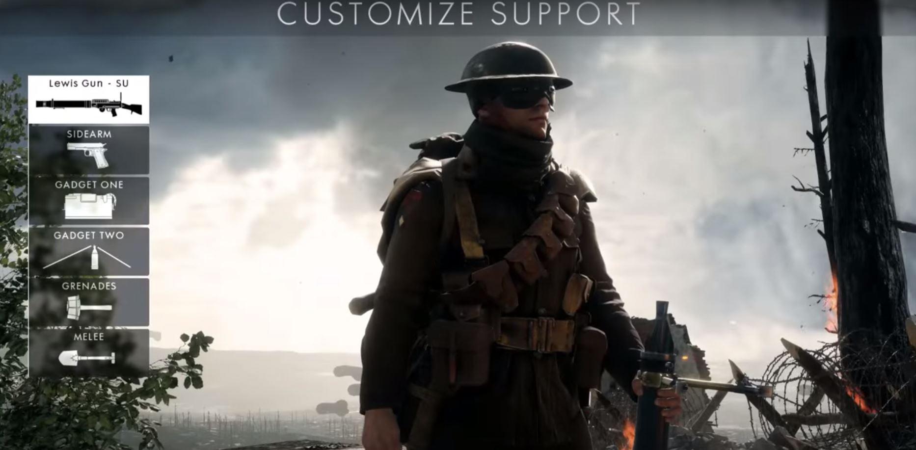 Battlefield 1: Waffen-Gameplay aller vier Klassen im Video