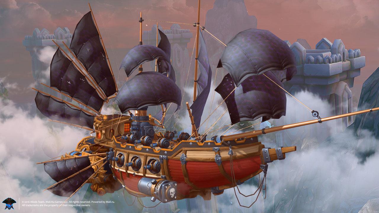 Pirates. Allods Online: Luftschiff-PvP-Kämpfe im Spin Off