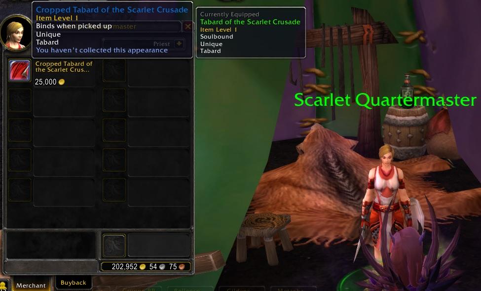 WoW Legion Darkmoon Scarlet Quartermaster