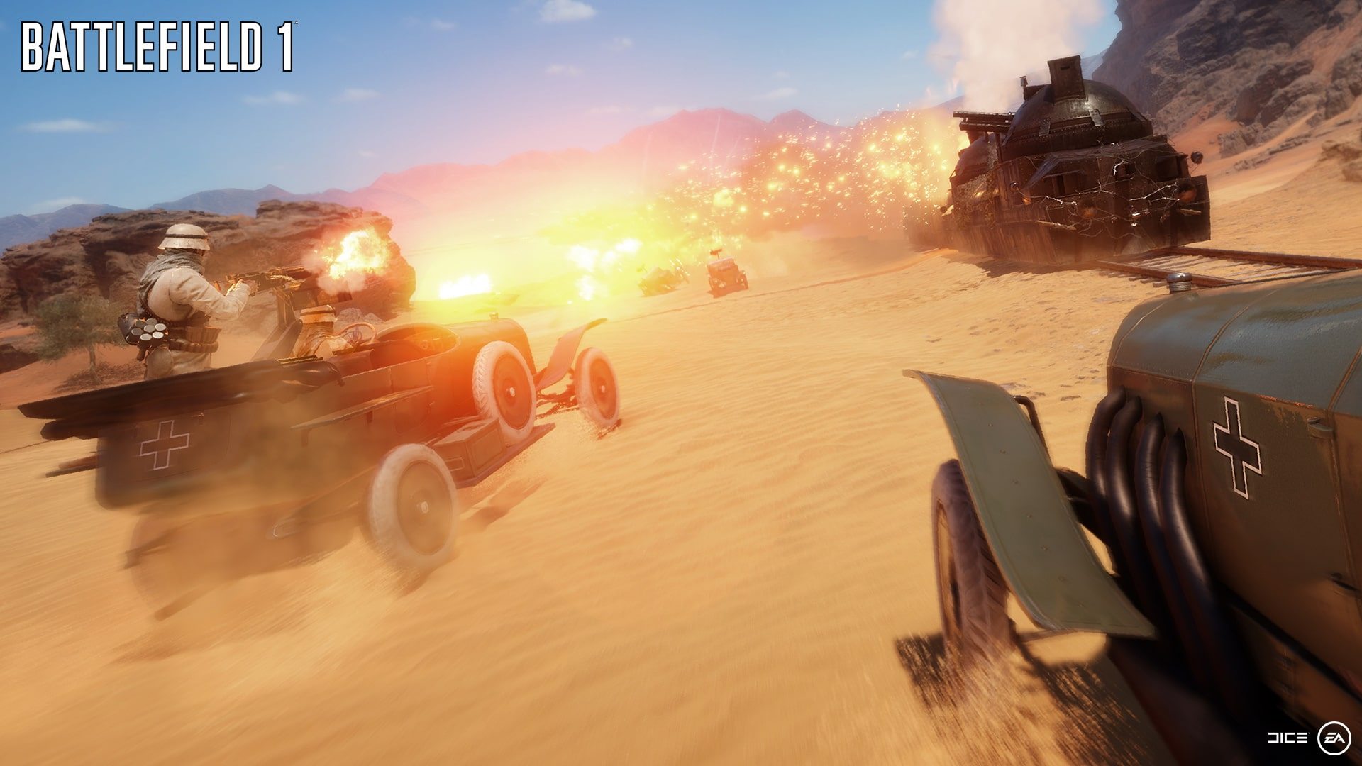 Battlefield 1: Gameplay-Video zur Gamescom zeigt Sinai-Map und Gefechte zu Pferde