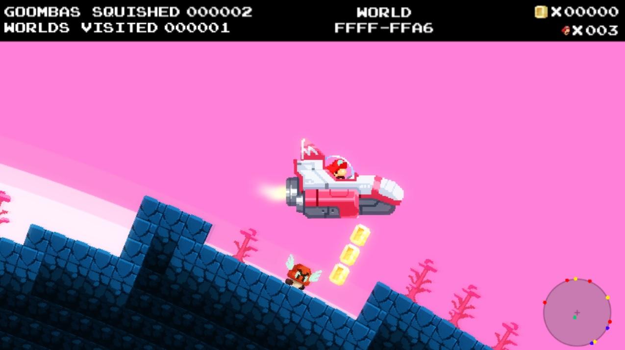 No Mario's Sky: Super Mario trifft auf No Man's Sky – Zerstampft unendlich viele Gumbas!