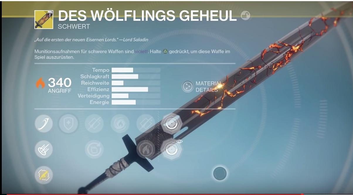"Destiny: Das neue Exo-Schwert ""Des Wölflings Geheul"""