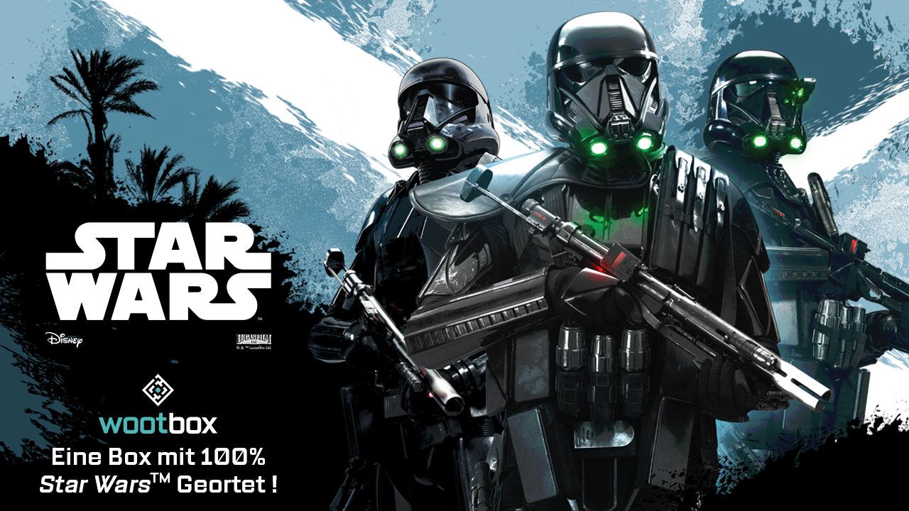 100% Star Wars! Die neue Wootbox zum Start von Star Wars: Rogue One, 2000€ Gewinnspiel – Gesponserter Inhalt