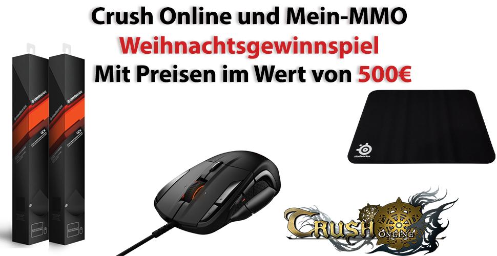 Mein-MMO Gewinnspiel: Gewinnt mit SteelSeries und Crush Online