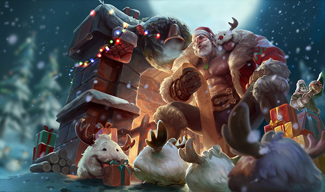LoL Weihnachts-Braum Skin