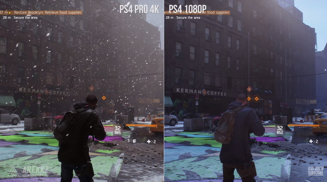 The Division: PS4 vs. PS4 Pro – Grafikvergleich im Video