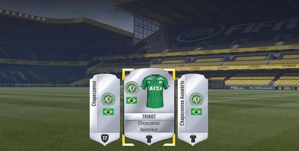 FIFA 17: Nach Flugzeug-Tragödie – EA schenkt allen Spielern Wappen und Trikot von Chapecoense