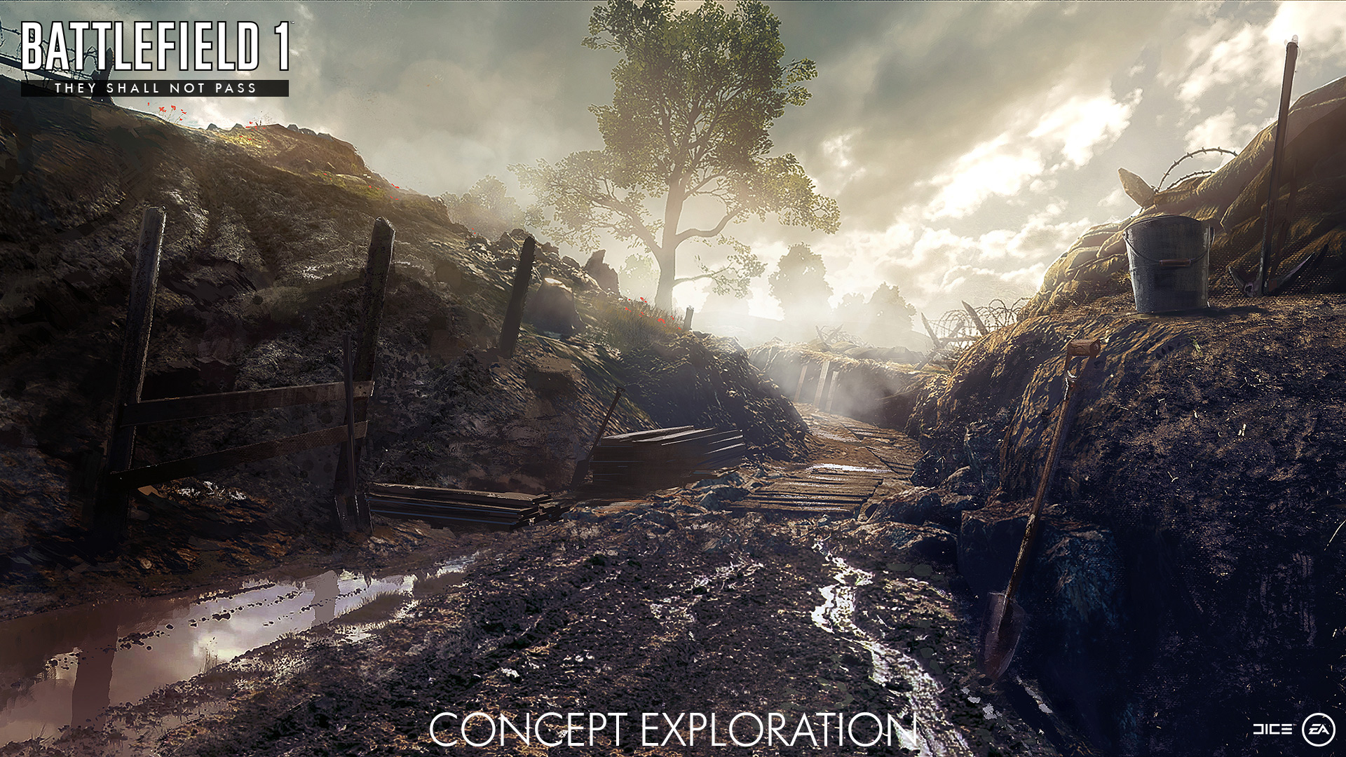 Battlefield 1: Concept-Art vom DLC They Shall Not Pass – Realismus pur