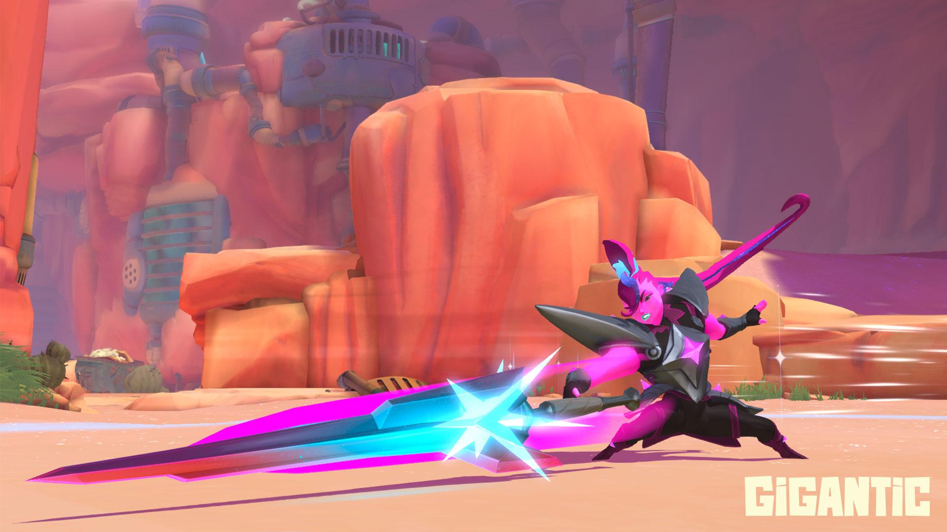 Gigantic: Buntes MOBA wird noch bunter – Neue violette Heldin kommt