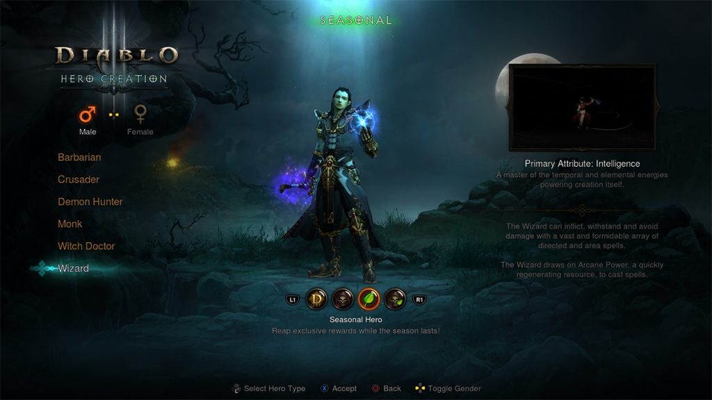 Diablo 3 Charakter PS4