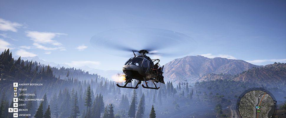 Rückwärtssaltos – Helikopter in Ghost Recon Wildlands spielen verrückt