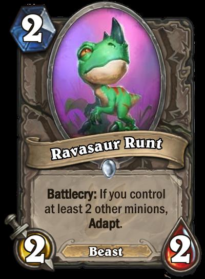 Hearthstone Ungoro Ravasaur Runt