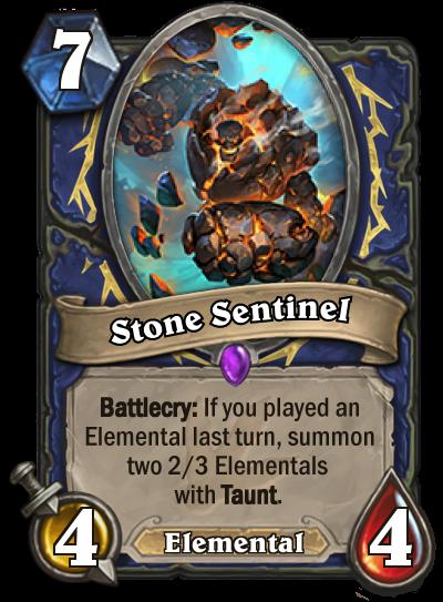 Hearthstone Ungoro Stone Sentinel