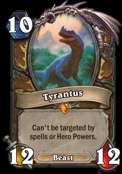 Hearthstone Ungoro Tyrantus