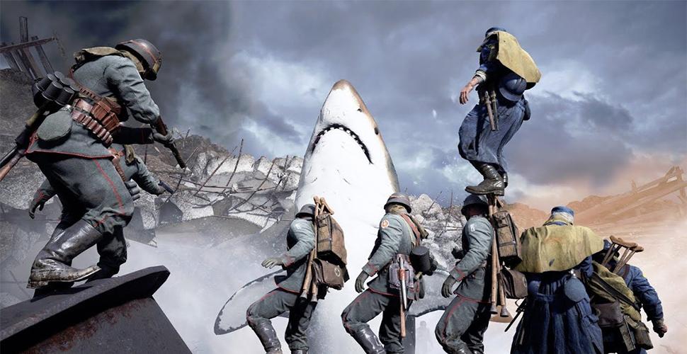 Battlefield 1: Easter-Egg lässt fiesen Megalodon-Hai auf Map erscheinen