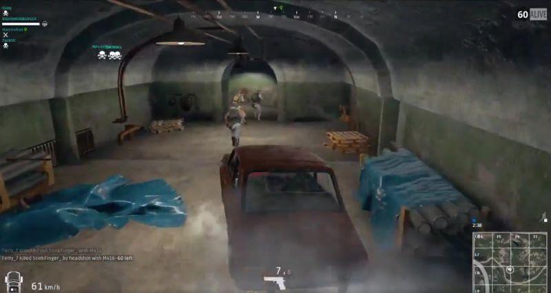 PlayerUnknown's Battlegrounds: Spieler fährt Auto im Bunker – Massaker!