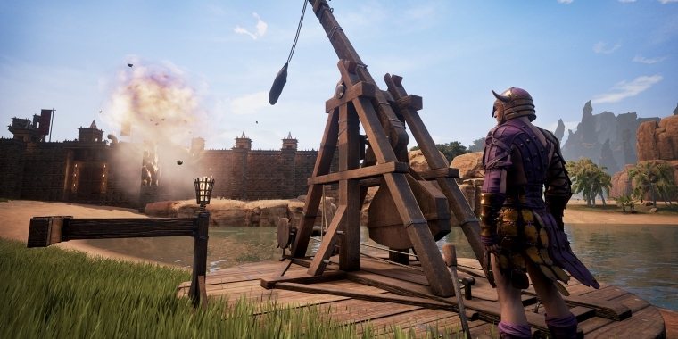 Conan Exiles: Trebuchet für Belagerungen im Spiel – So baut ihr das Katapult!