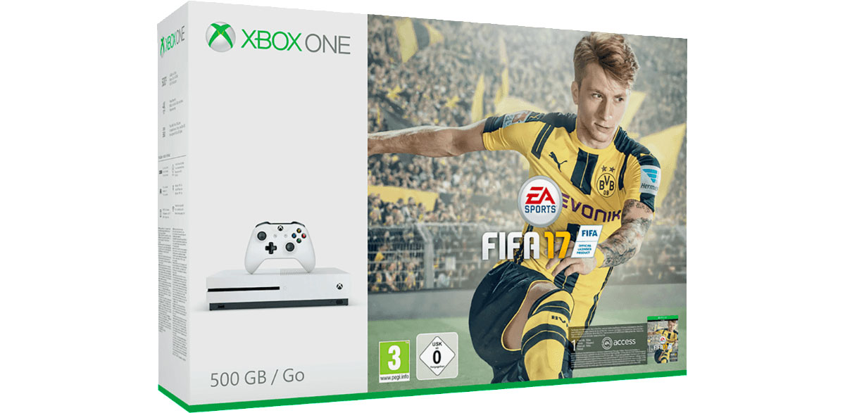 Xbox One S 500 GB mit FIFA 17 oder Forza Horizon 3 für 199 Euro